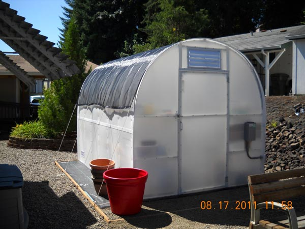 Solexx Greenhouse kit with shade cloth