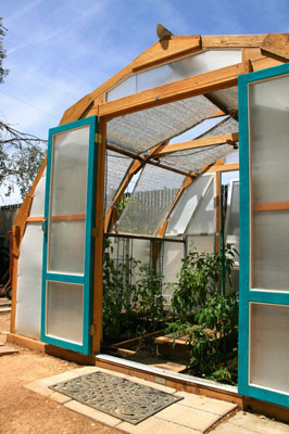 The Nurse Tree Arch uses Solexx Greenhouse Panels