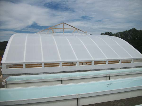 aquaponics Greenhouse Covered with Solexx Greenhouse Covering