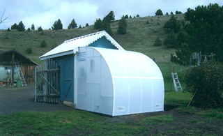 A Solexx Harvester Greenhouse