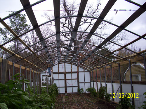 Solexx Greenhouse Covering on a large greenhouse