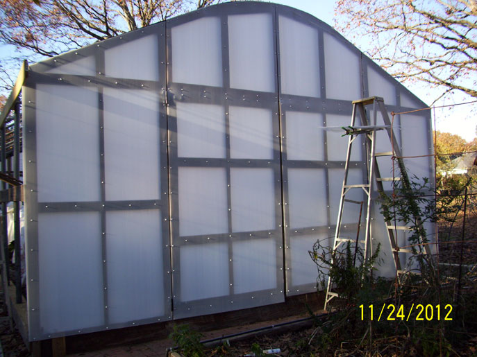 Putting the endwall on Solexx Greenhouse