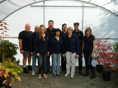 The staff at Solexx Greenhouses.